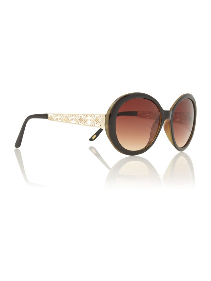 BIBA   circular filigree sunglasses   currently 70% off