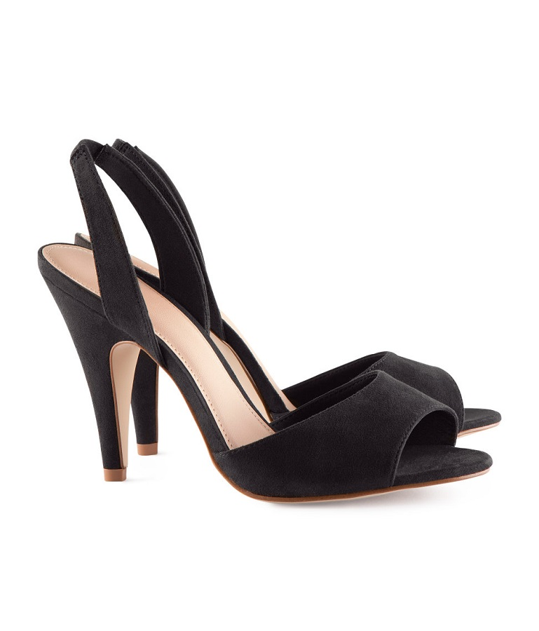 H&M open toe high heeled   slingbacks