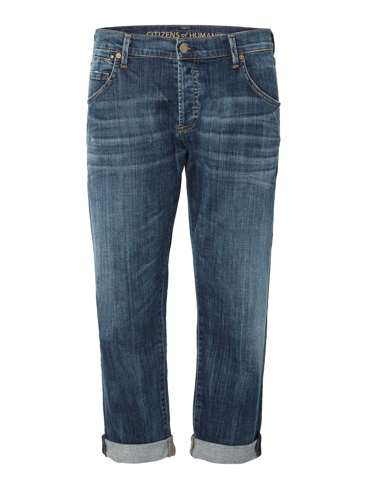CITIZENS OF HUMANITY   cropped boyfriend jeans