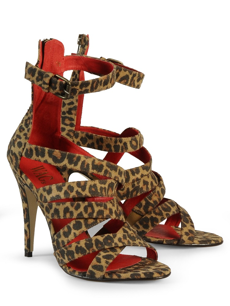 WAGS leopard   high heeled sandals   currently 60% off