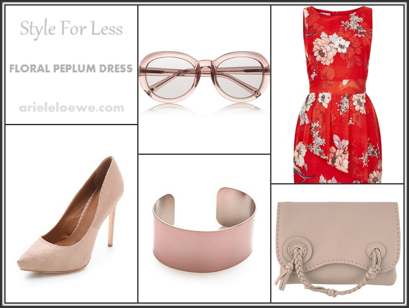 Style For Less Floral Peplum Dress