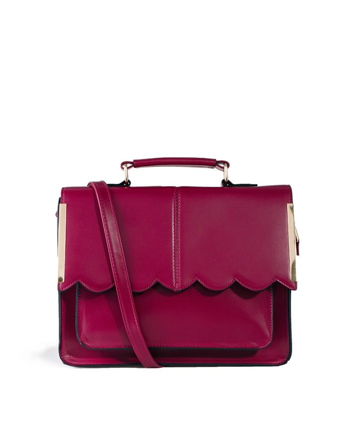 ASOS COLLECTION   satchel bag   with scallop detail
