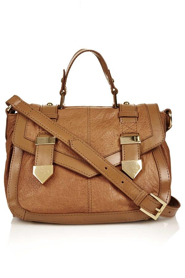 TOPSHOP metal tab   satchel bag