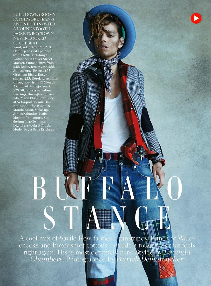Patrick Demarchelier / Freja Beha Erichsen / Vogue UK / August 2013