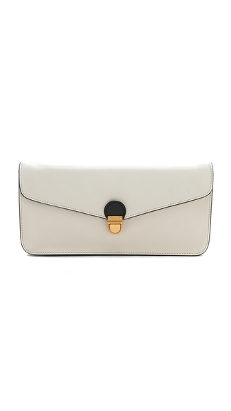 MARC BY MARC JACOBS two tone oversize   clutch bag