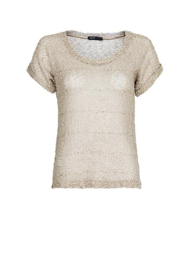 MANGO glitter knit   t-shirt