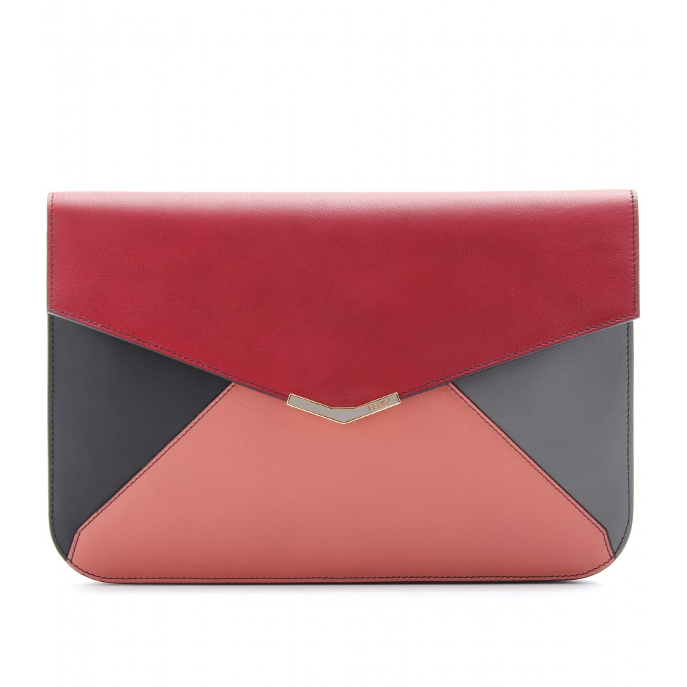 FENDI colour block envelope   clutch bag