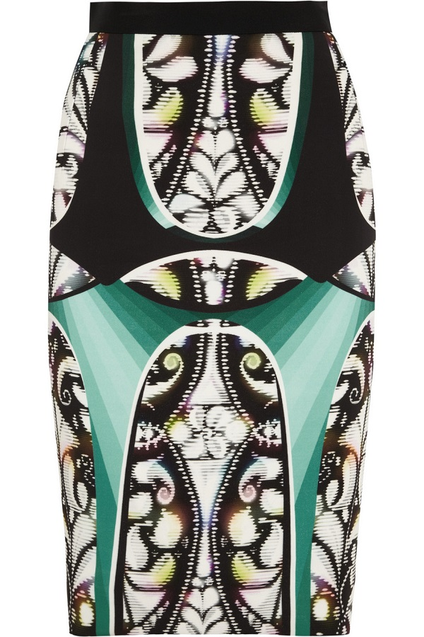 PETER PILOTTO   stretch crepe pencil skirt