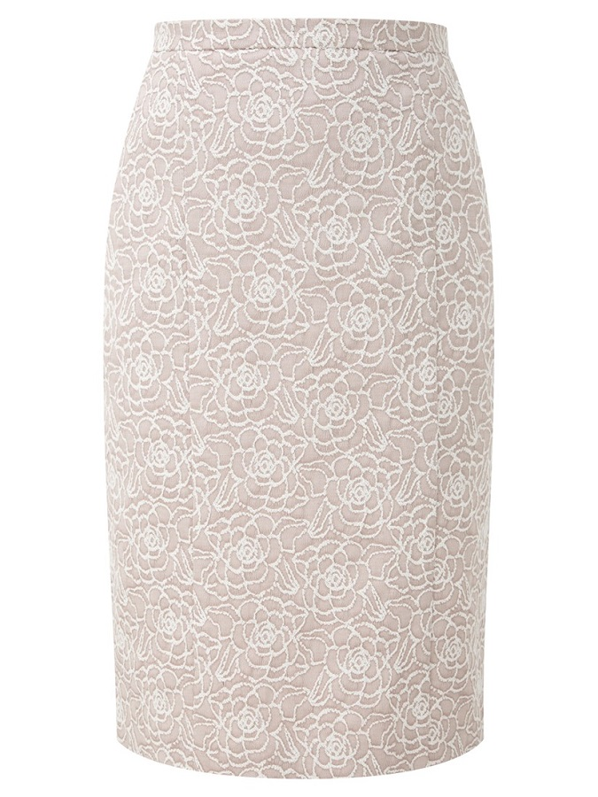 CC   jacquard pencil skirt