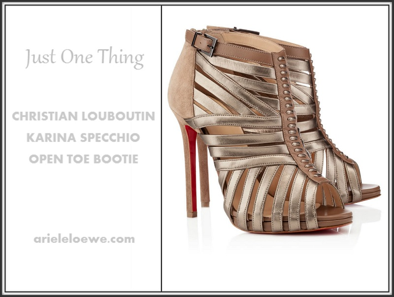 Just One Thing Christian Louboutin Open Toe Bootie