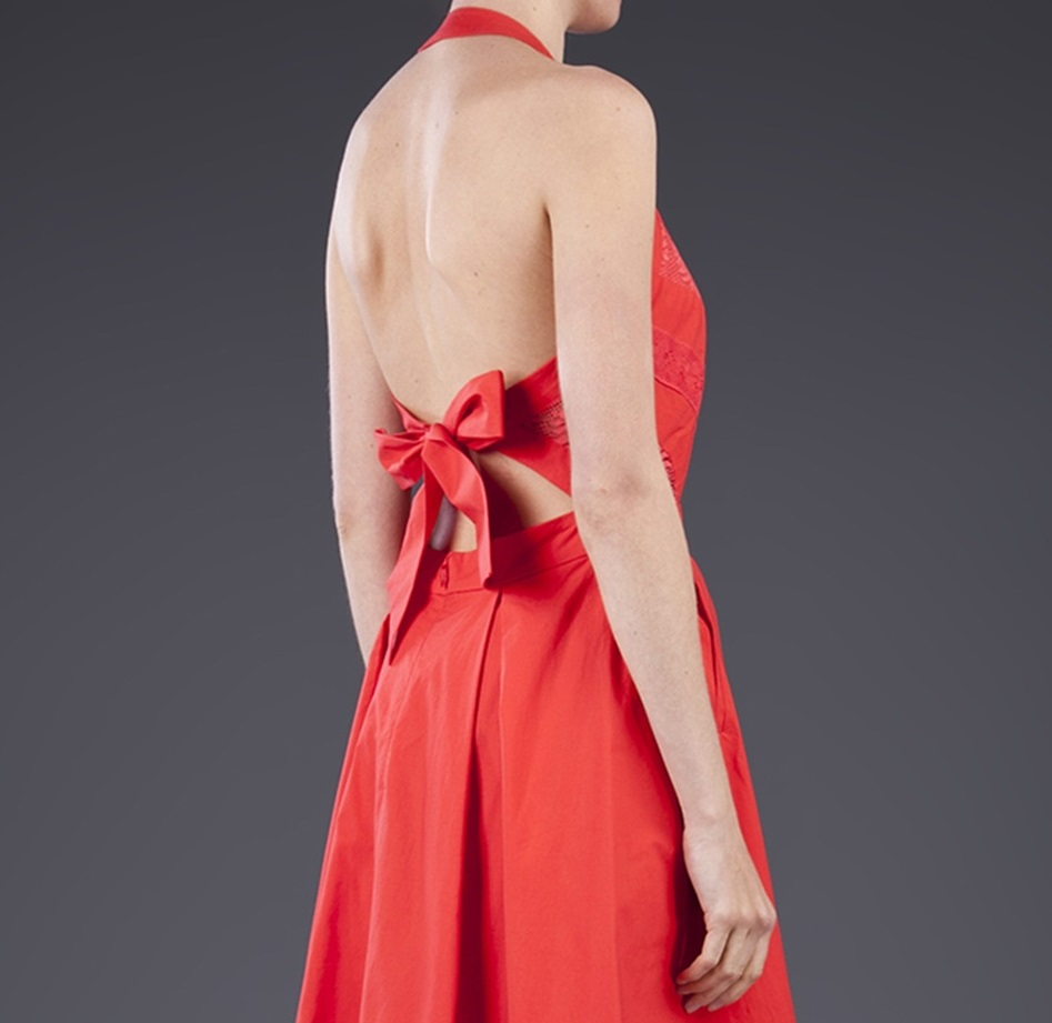 TEMPERLEY LONDON   red  lace summer dress