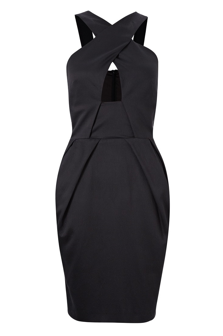 FRENCH CONNECTION   satin halter dress   currently 70% off
