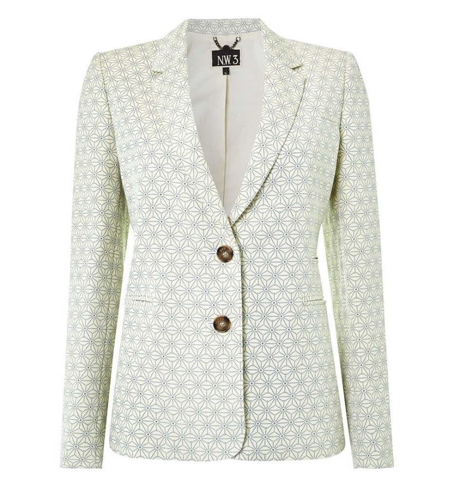 HOBBS NW3 mosaic     byron blazer  currently 55% off