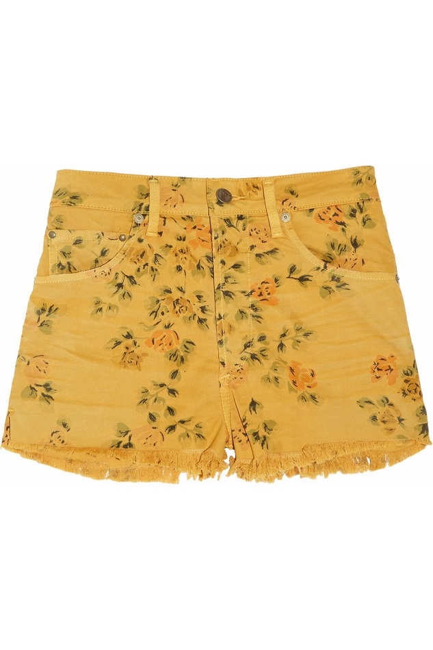 CITIZENS OF HUMANITY floral print stretch   denim  shorts