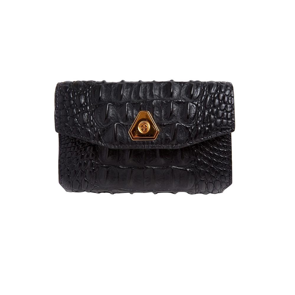 ALEXANDER WANG trigone embossed   leather wallet