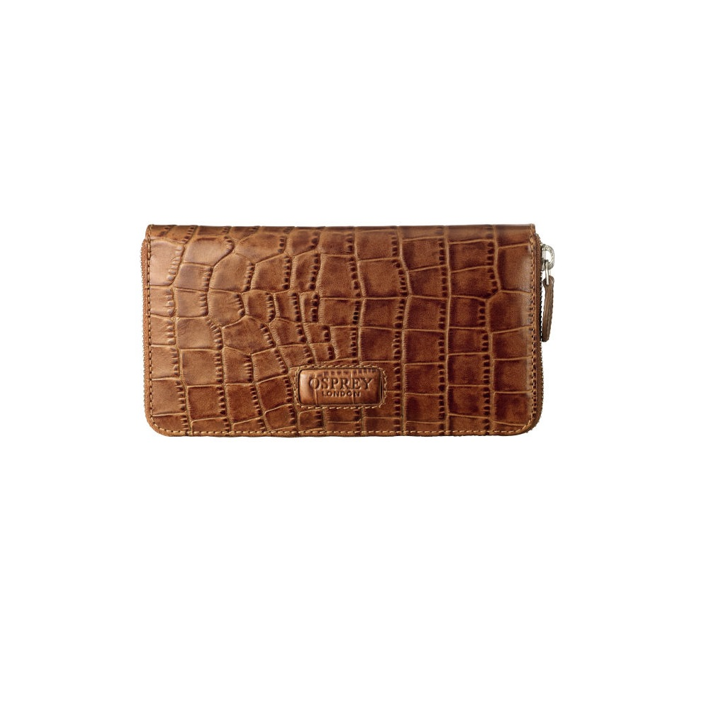 OSPREY LONDON croc   leather purse