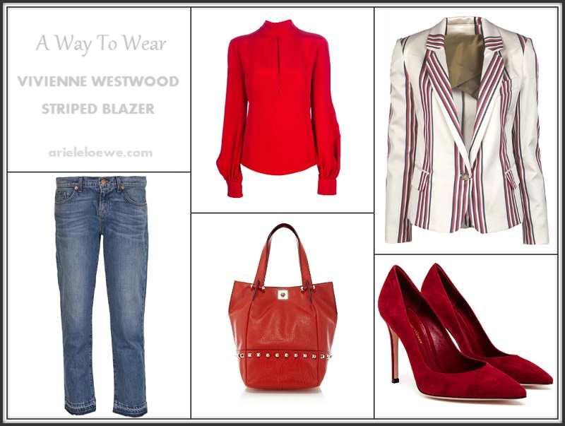 A Way To Wear Vivienne Westwood Anglomania Striped Blazer