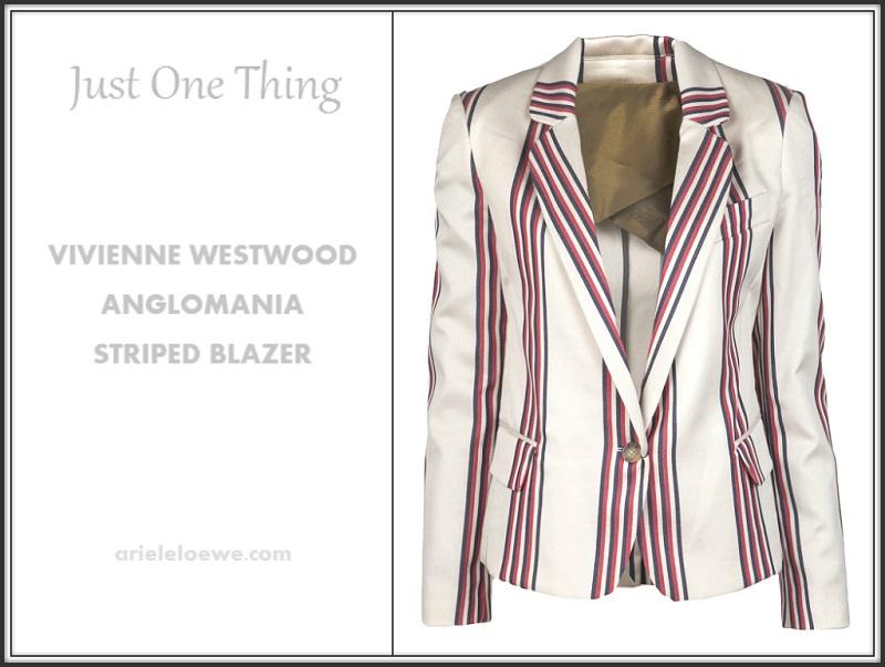 Vivienne Westwood Anglomania Striped Blazer