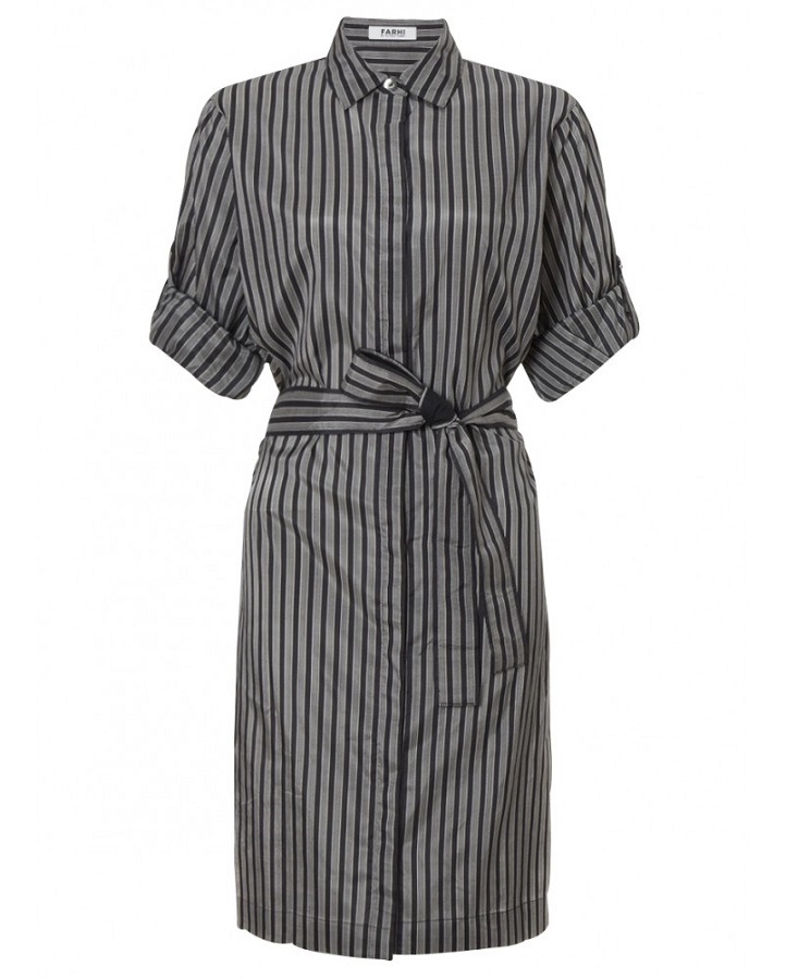FARHI by NICOLE FARHI striped cotton   shirt dress   currently 50% off