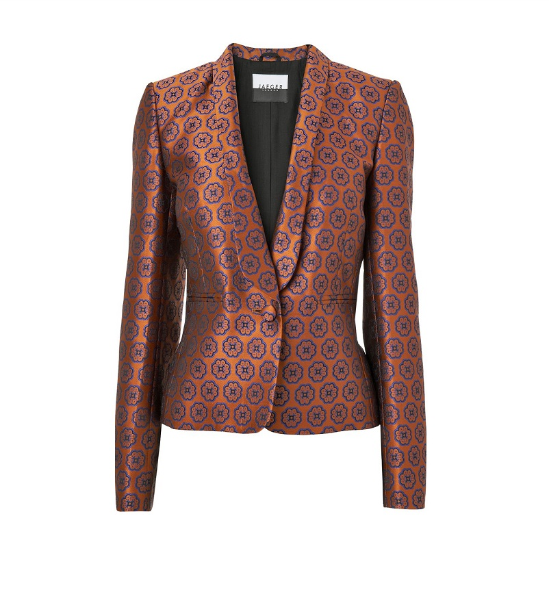 JAEGER geo   jacquard blazer   currently 60% off