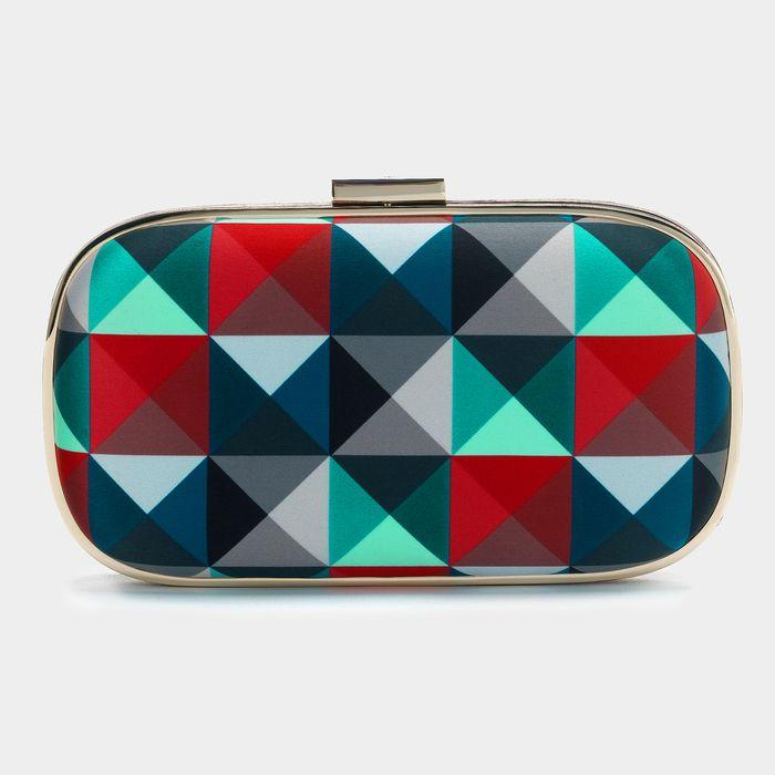 Marano eye twister   pyramid clutch bag