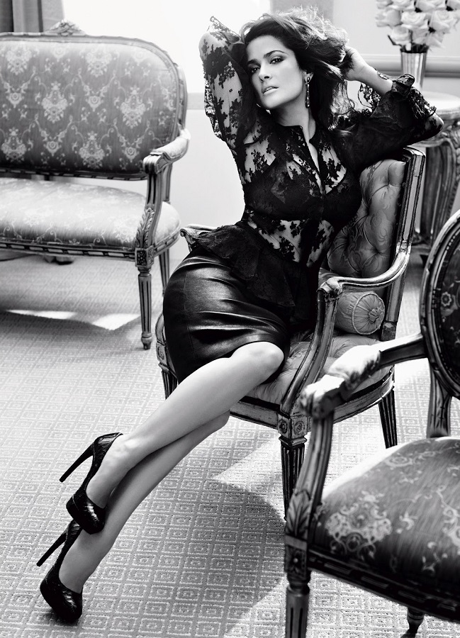 Alexi Lubomirski / Salma Hayek / Vogue Germany / September 2012