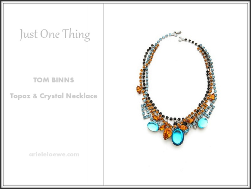 Just One Thing Tom Binns Topaz & Crystal Necklace