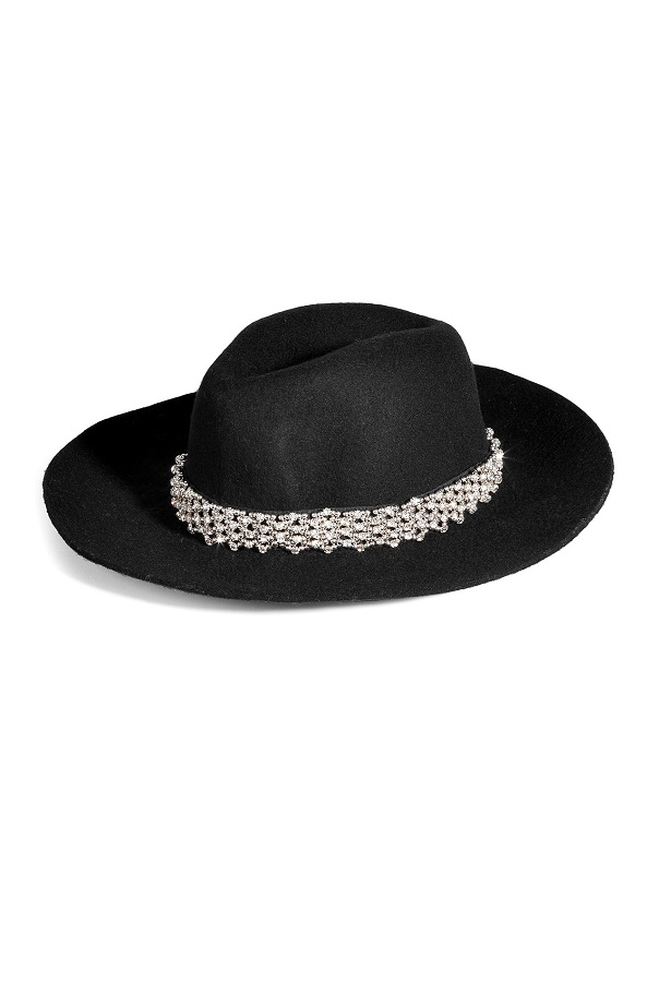 JUICY COUTURE crystal embellished   fedora   currently  50% off