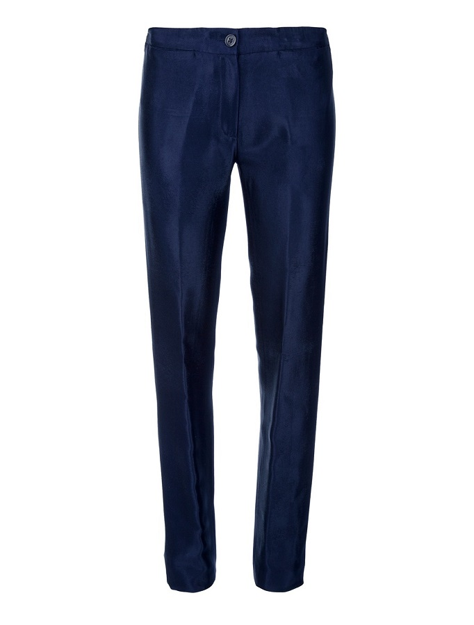 ANN DEMEULEMEESTER blue tapered trouser