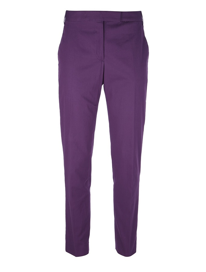 PAUL SMITH purple tapered trouser