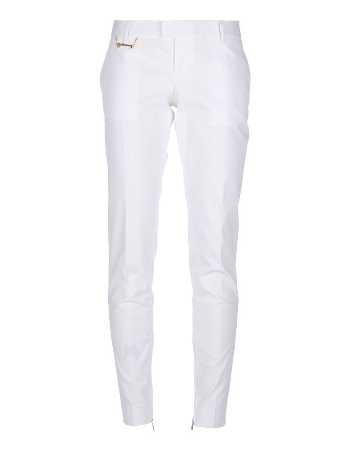 DSQUARED2 white tapered trouser
