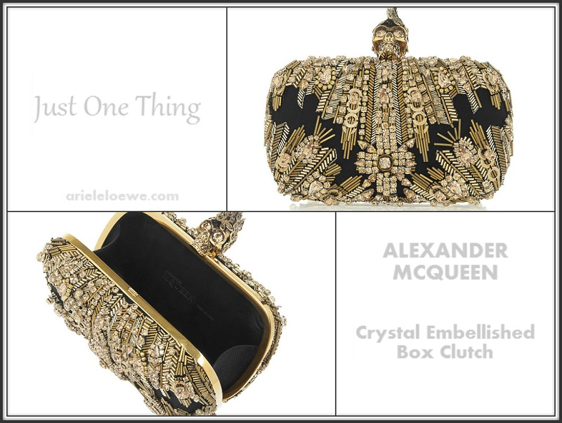 Alexander McQueen Crystal Embellished Box Clutch