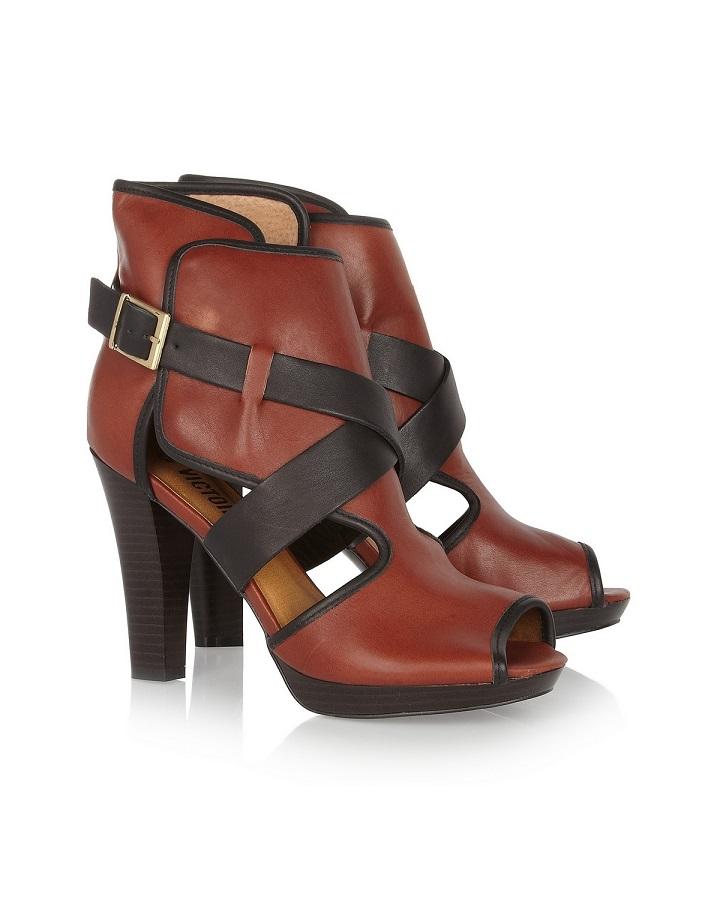 POUR LA VICTOIRE cut out leather ankle boots