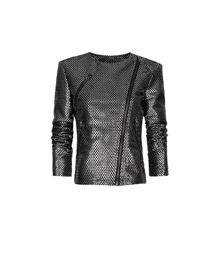 MANGO metallic biker jacket