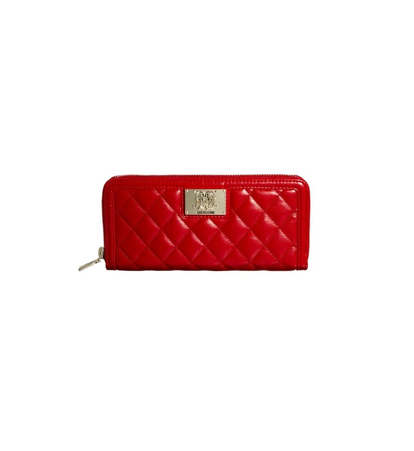 LOVE MOSCHINO quilted zip around large purse