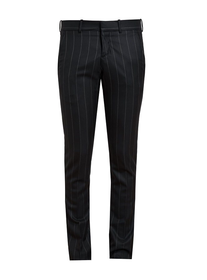 ALEXANDER MCQUEEN pinstriped tailored wool trousers