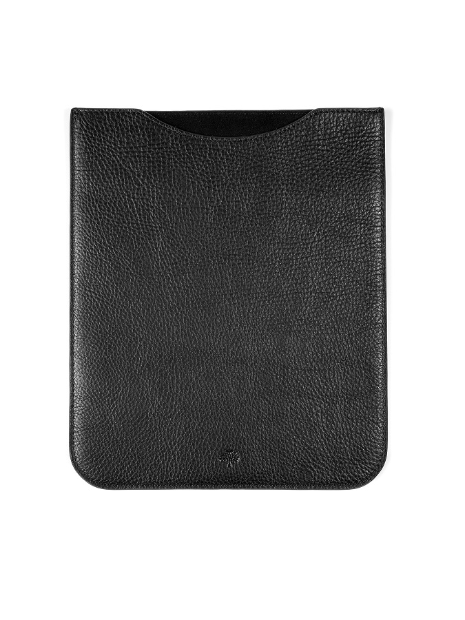MULBERRY black simple iPad sleeve