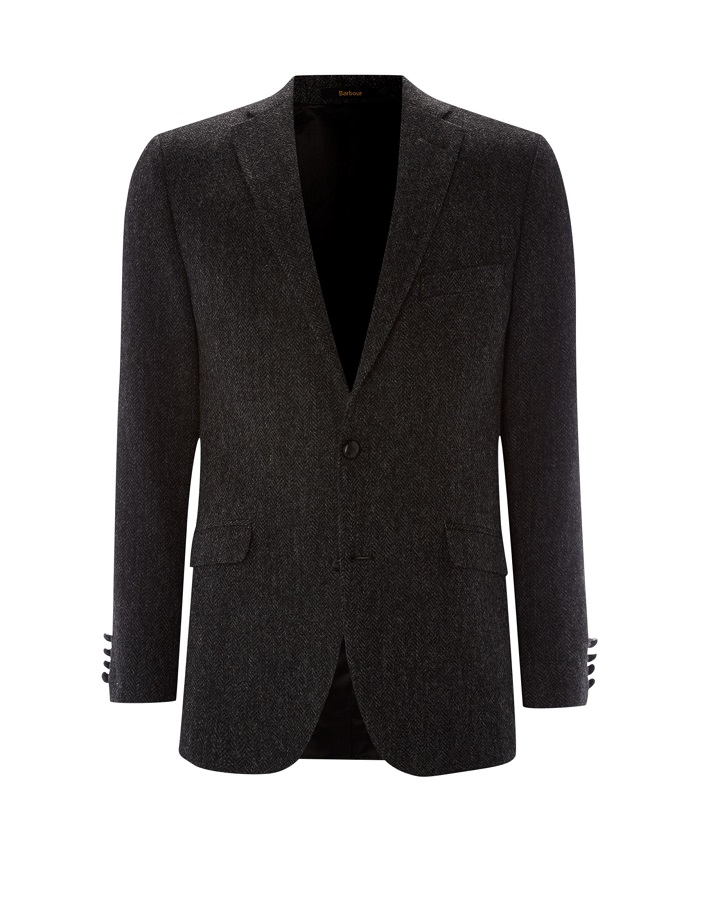 BARBOUR bridle herringbone tweed blazer
