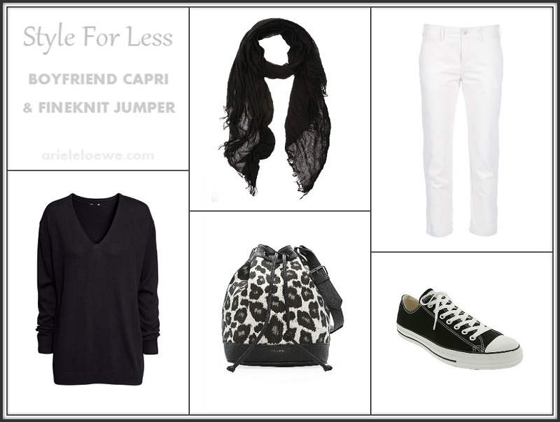 Style For Less Boyfriend Capri and Finekint Jumper