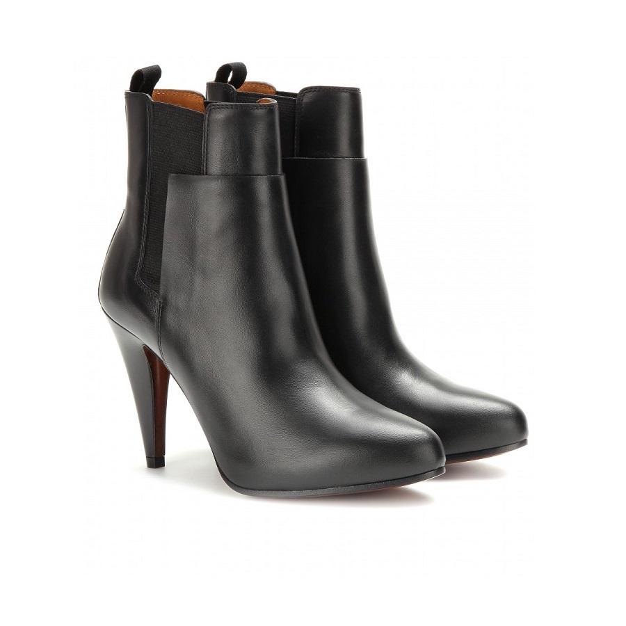 BALENCIAGA  black   leather ankle boot