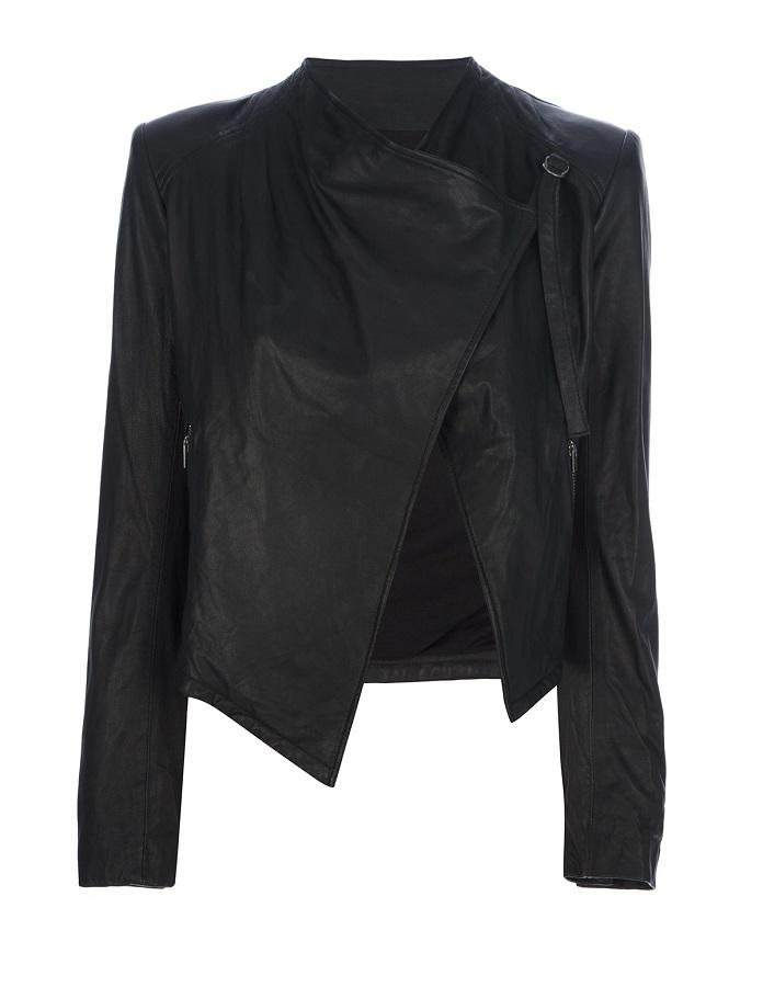 HELMUT LANG black open   biker jacket