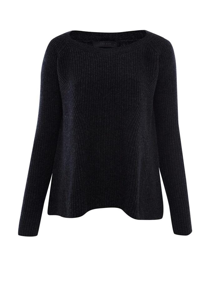 THE ROW   charcoal ella cashmere-blend jumper