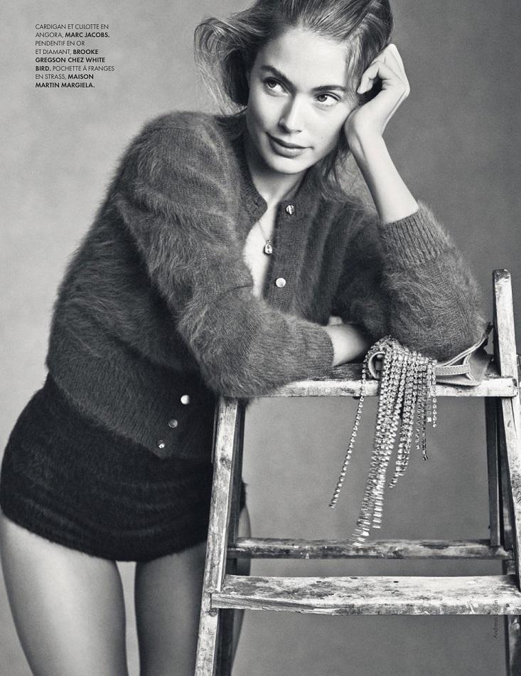 Andreas Sjödin / Doutzen Kroes / Elle France / August 2013