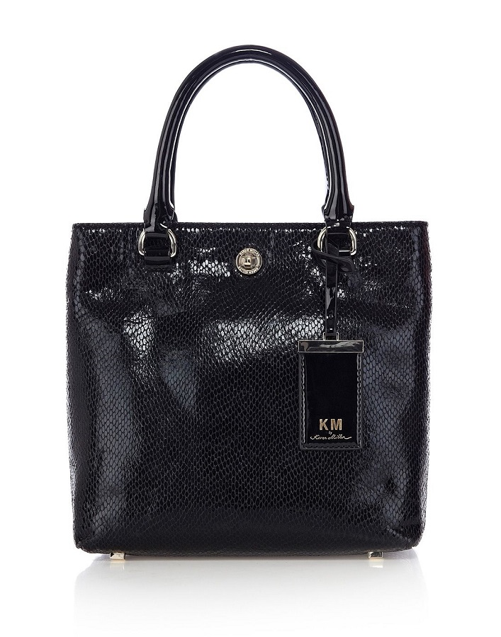 KM BY  KAREN MILLEN snake embossed   mini tote bag