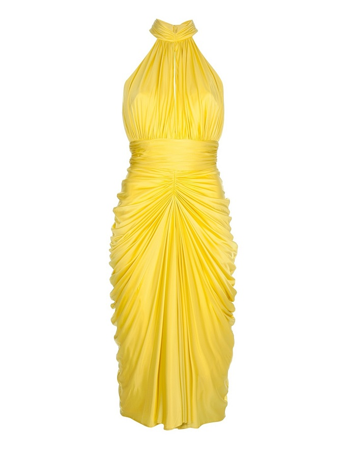 ALEXANDER MCQUEEN   marilyn  halter dress