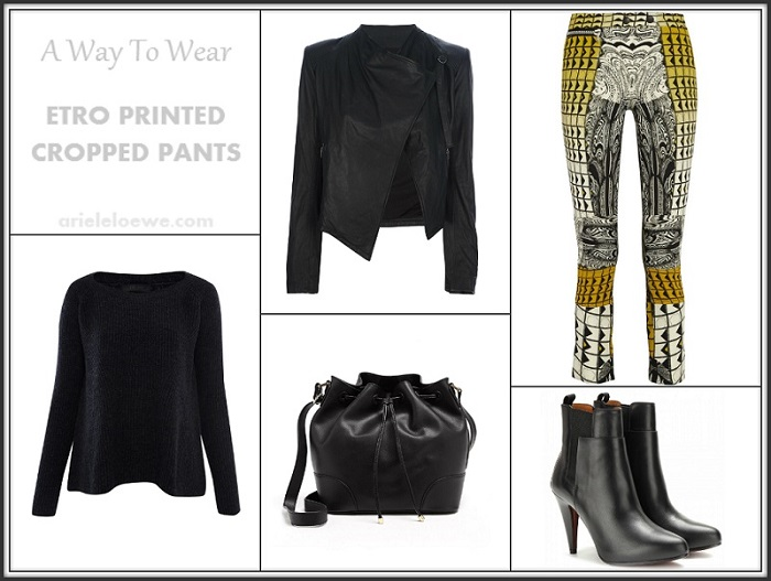 A Way To Wear Etro Printed Cropped Pants
