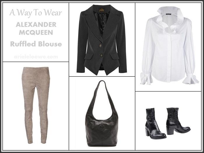 A Way To Wear Alexander McQueen Ruffled Blouse