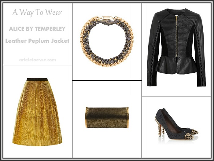 Alice By Temperley Leather Peplum Jacket