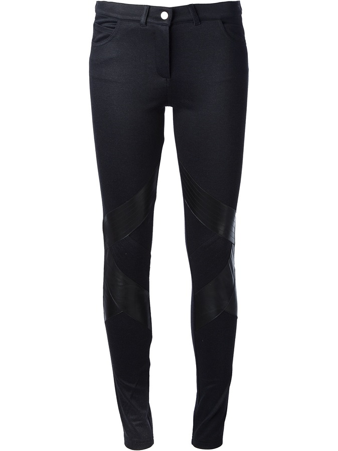 VANESSA BRUNO ATHÉ   black leather  panelled trouser