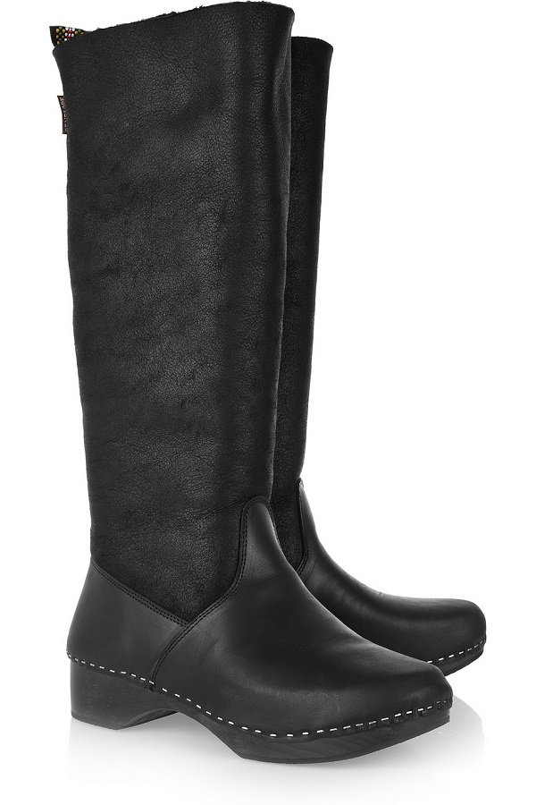 PENELOPE CHILVERS    shearling & leather knee high boots - currently 60% off